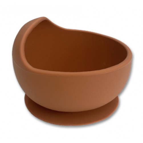 Tan Small Suction Bowl with Lip