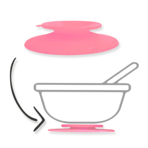 Pink Silicone Suction Adapter