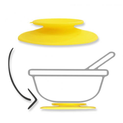 Yellow Silicone Suction Adapter
