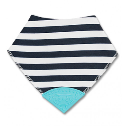 Dark Navy Stripe Teether Bib