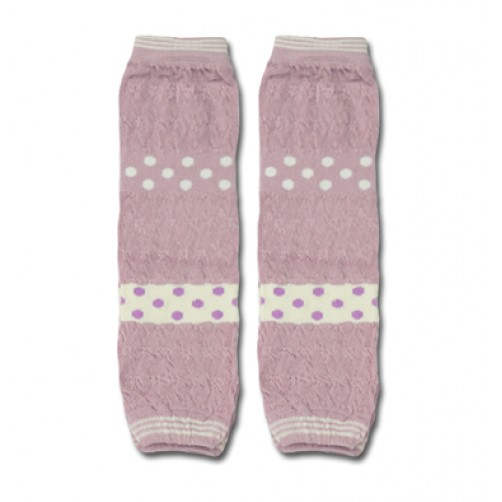 LW001 Light Purple White Spots Leg Warmers