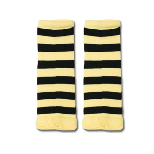 LW007 Yellow Black Stripe Leg Warmers