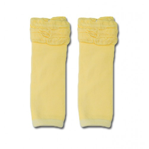 LW017 Puffy Light Yellow Leg Warmers