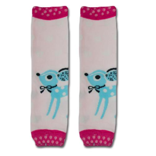 LW022 Pink Turquoise Buck Leg Warmers
