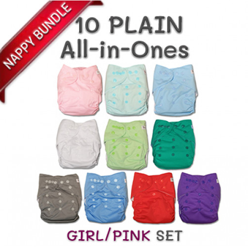 BUNDLE: 10 Plain All-IN-ONES (GIRL/PINK)