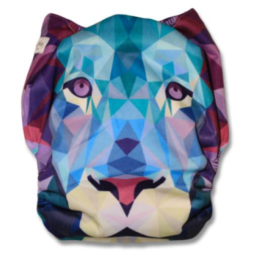 F501 Geometric Lion Face Ai1