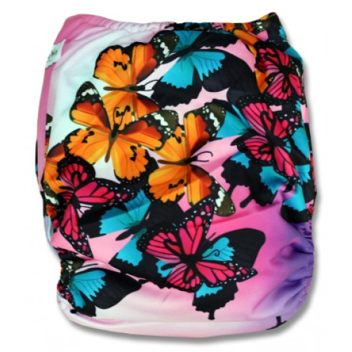 F503 Pink Turquoise Butterflies Ai1