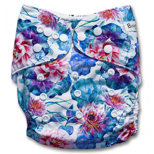 F176 Blue Turquoise Red Floral Ai1