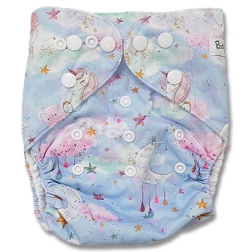 F549 Pink Aqua Sleeping Unicorn Ai1