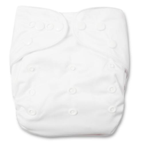 CH001 Plain White Charcoal Pocket