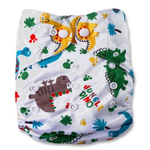 CH106  Jungle Dino Charcoal Pocket