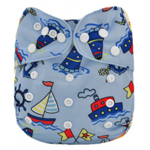 Double Gusset OSFM PUL Cover - Blue Yachts