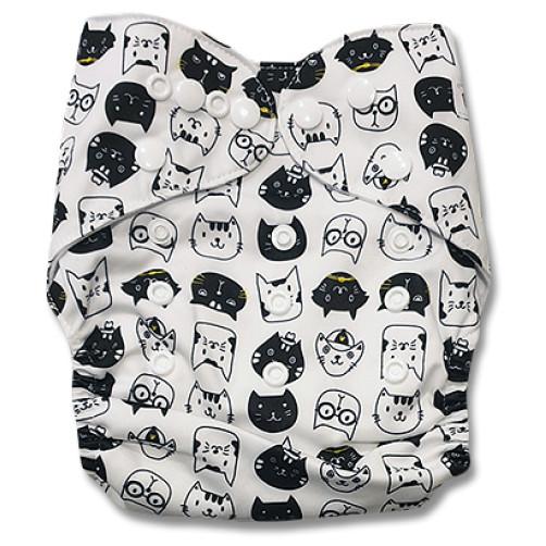 PC091 Black White Cats PUL Cover