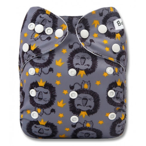 PC094 Grey Lion Yellow Crowns PUL Cover