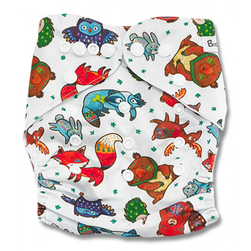 PC096 Multicolor Forest Animals PUL Cover