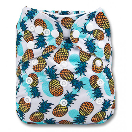 PC071 Blue Shadow Pineapples PUL Cover