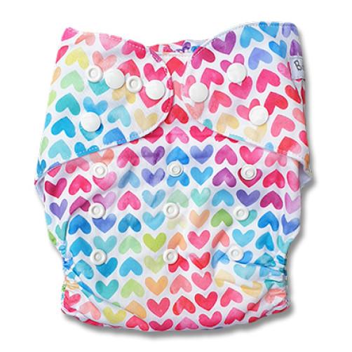 PC066 Multicolour Hearts PUL Cover