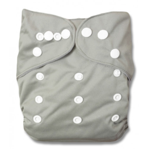Double Gusset OSFM PUL Cover - Grey