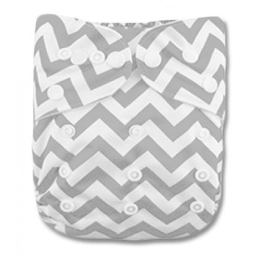 PC010 Grey White Chevron PUL Cover
