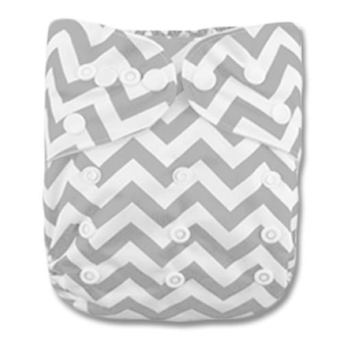 PC010 Grey White Chevron PUL Cover