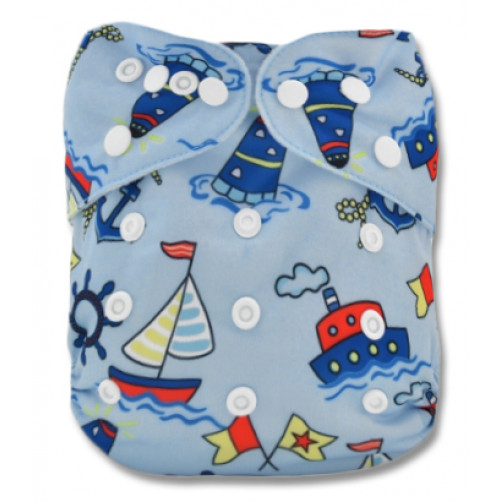 NbDG09 Blue Yachts Newborn Cover Double Gusset