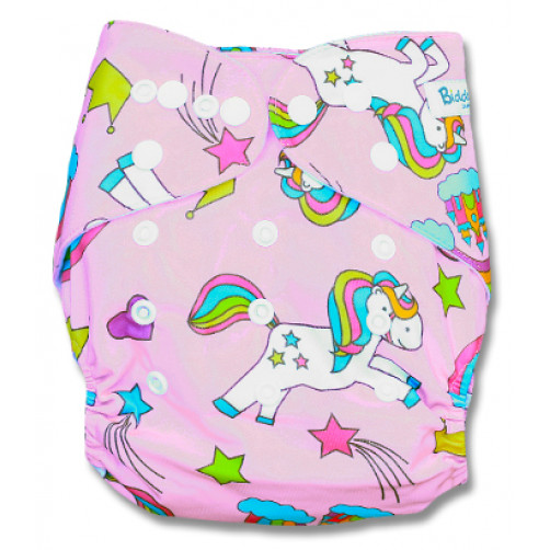 PC020 Pink Pony Rainbows PUL Cover
