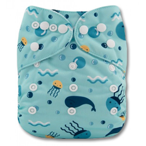 PC022 Blue Whales & Jellies PUL Cover
