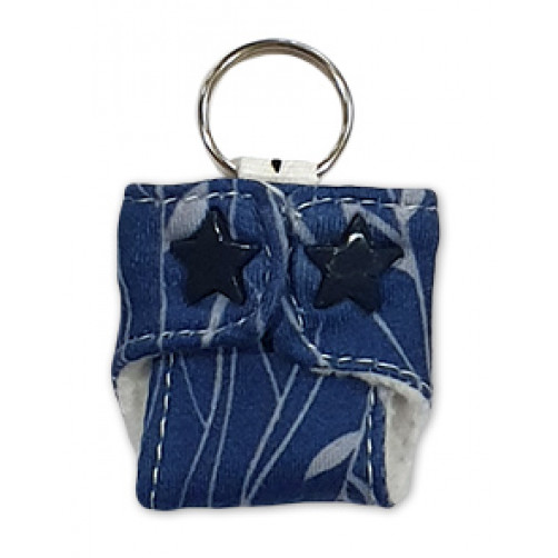 Blue Leaves Keyring