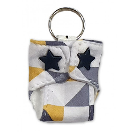 Grey Yellow Triangles Keyring