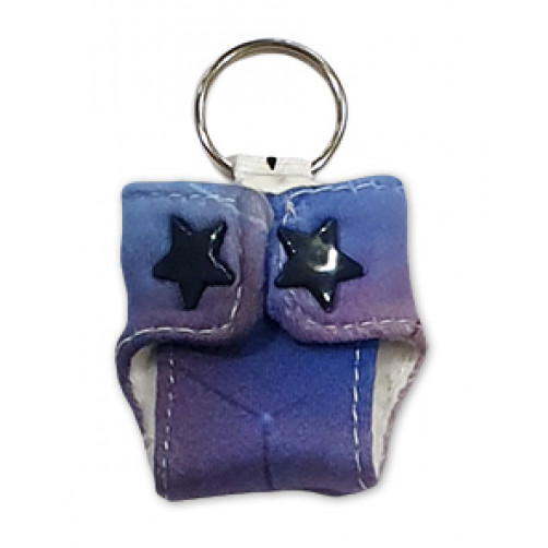 Shades of Purple Keyring