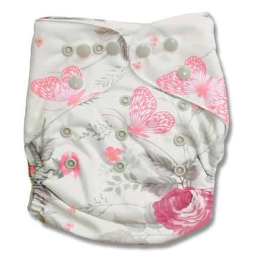 H116 Cream_Pink Floral Butterflies NBAi1