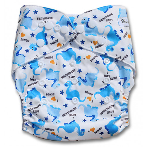 NbDG045 White Blue Dinos Newborn DGusset Cover