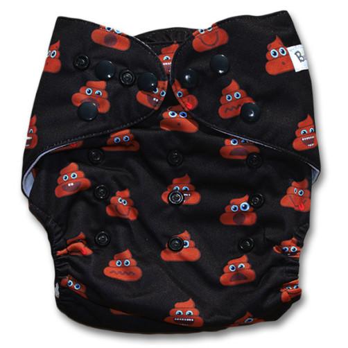 NbDG501 Poo Emoji Newborn DGusset Cover