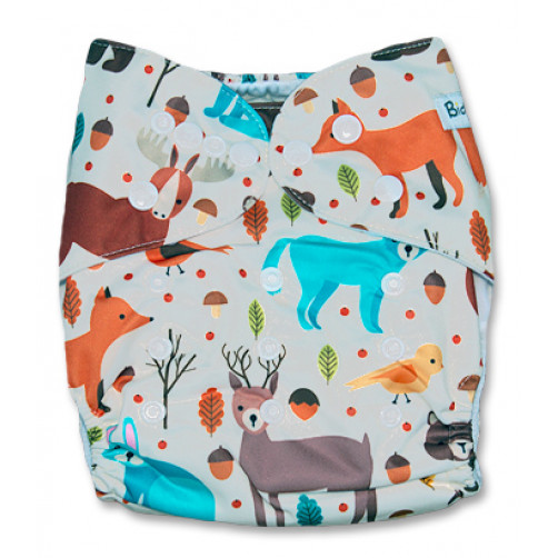 NbDG028 Woodlands Creatures Newborn DGusset Cover