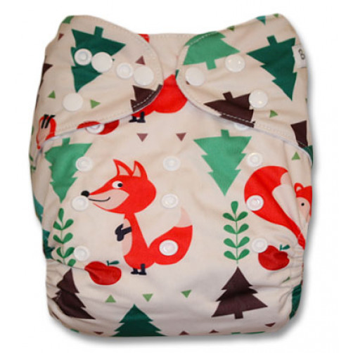 NbDG038 Fox in Woods Newborn DGusset Cover