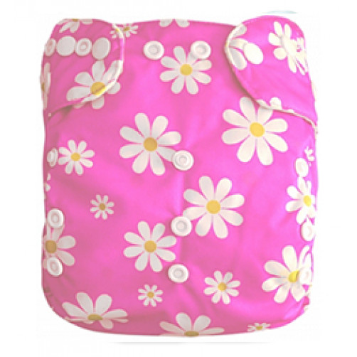 J040 Pink with White Daisies Newborn Cover