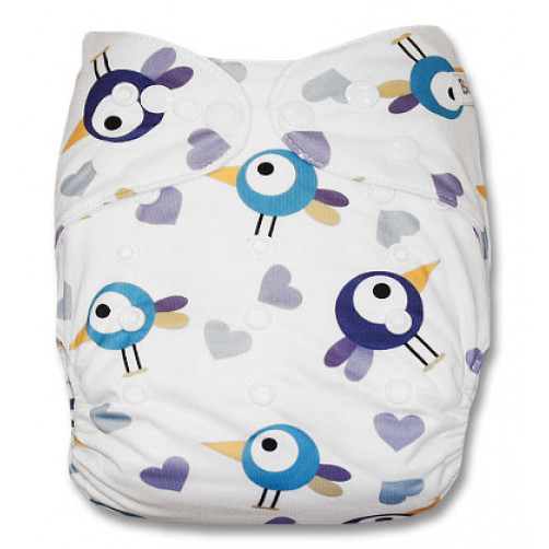 J039 Blue Purple Birds Newborn Cover
