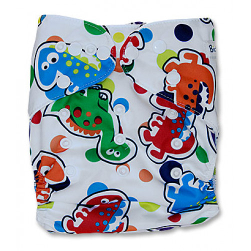 NbDG035 White Multicolor Dinos Newborn DGusset Cover