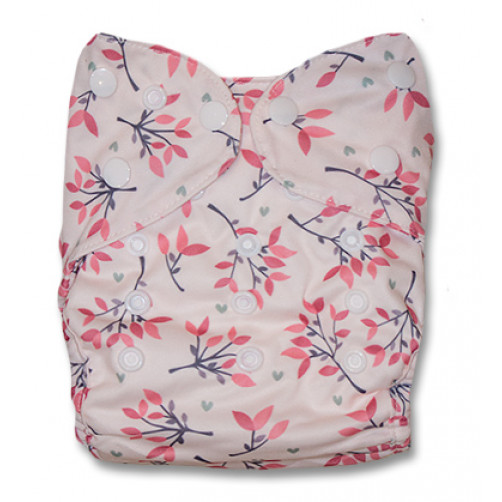 J042 Pink with Twigs & Leaves Newborn Cover
