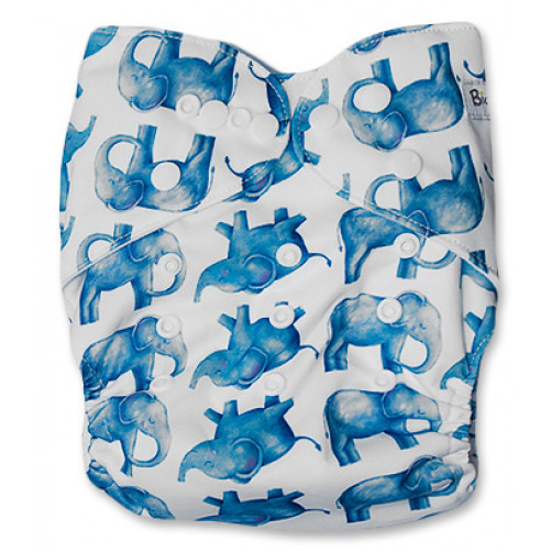 J043 White with Blue Ellies Newborn Cover