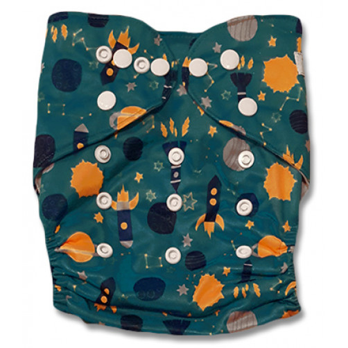J063 Turquoise Yellow Navy Rockets Newborn Cover