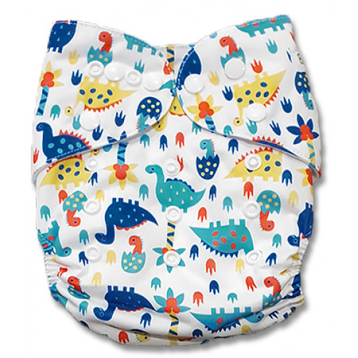 J054 Yellow Blue Dinos Newborn Cover