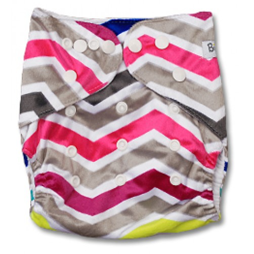 D001 Multicolour Chevron Minky Print