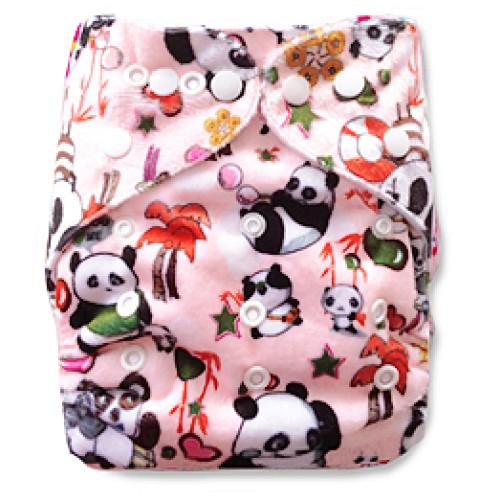 D006 Pink Pandas Minky Print