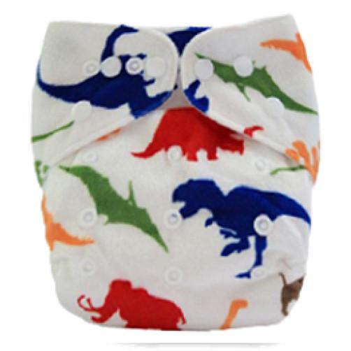 D009 Multicolour Dinos Minky Print