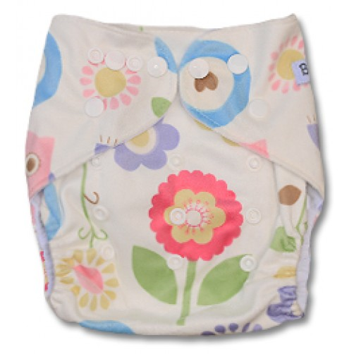 D010 Flowers with Owl Minky Print