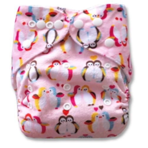 D013 Pink Penguins Minky Print