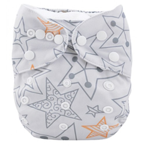 C002 Grey Orange Star Position Print