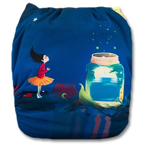 C047 Girl Fire Flies Jar Position Print