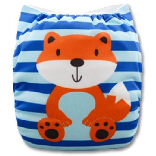 C048 Blue Stripe Fox Position Print